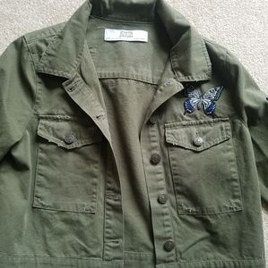 Zara Embroidered Army Jacket